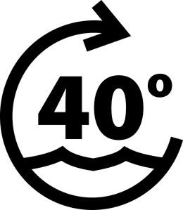 ikona - pranie w 40 stopniach
